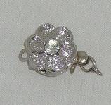 Chiusura a linguetta fiore 14mm argento