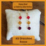 Kit Basic Earrings with Round Swarovski Red