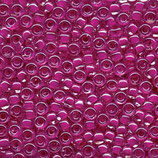 Round Rocailles 6/0 col.209 Fucsia Lined Crystal