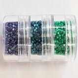 Kit Miyuki Nuove Delica 11/0 Duracoat Metallic versione blu verde