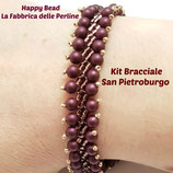Kit Saint Petersburg Bracelet Stitch  Basic Big Version  Amthyst / Wine