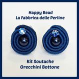 Kit Soutache Button Earrings Petrolium
