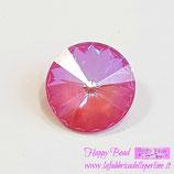 Rivoli Swarovski (1122) 14mm Crystal Pink Lotus DeLite