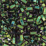 Half Tila Beads  (HTL468)2,5x5mm Verde Lucido Malachite Opaque