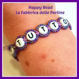 Kit Macramé Base Letter Bracelet Purple