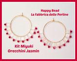 Kit Miyuki Orecchini Jasmin  Bianco /Rosso
