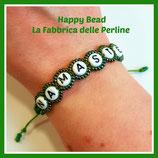 Kit Macramé Bracelet  Namaste Green