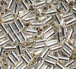 Bugle Beads 3mm col.1 Argento Silverline
