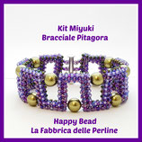 Miyuki Kit for PItagora Bracelet  Purple / Lilac / Green