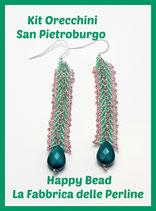 Miyuki Kit Double Saint Petersburg Earrings Small Version Light Green / Pink