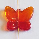 Farfalla Grande 24x28mm  Rosso  in Plexiglass
