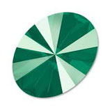 Cabochon Ovale (4122) Swarovski  13,5x18mm Shiny Lacquer Royal Green