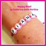 Kit Macramé Base Letter Bracelet Pink