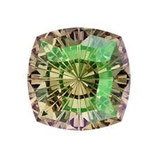 Cabochon Mystic Square (4460) Swarovski  14mm Luminous Green