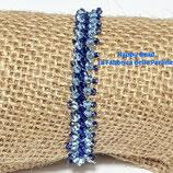 Kit Saint Petersburg Bracelet Stitch  Basic Small Version Blue  / Light Blue