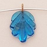 Ciondolo Foglia 14mm Blu