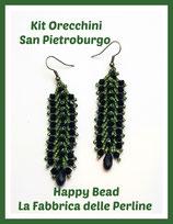 Miyuki Kit Double Saint Petersburg Earrings Big Version Black / Military Green
