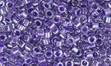 Delica 11/0   (DB923) Viola Sparkling Lined Crystal Color Inside