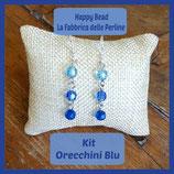 Kit Orecchini Base Sfere Swarovski Blu