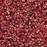 Delica 11/0 (DB428) Rosso Chiaro Metallico Galvanize Dyed