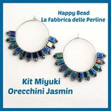 Kit Miyuki Orecchini Jasmin Blu