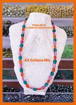 Kit Collana Base Cavetto Mix Rosa Arancio Verde