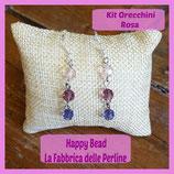 Kit Basic Earrings with Round Swarovski Pink