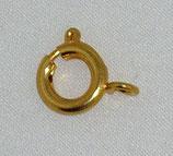 Anello a molla 9mm oro