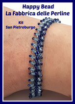 Kit Bracciale Punto San Pietroburgo Base Versione Piccolo Blu / Azzurro