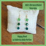 Kit Basic Earrings with Round Swarovski Green