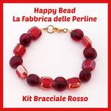 Kit Bracciale Base Cavetto Rosso
