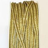 Cordoncino Soutache Metalizzato Verde Oro