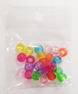 Pony 9mm Plastica Glitter Colori Misti