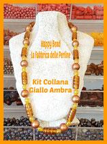 Kit Collana Base Cavetto Giallo Ambra