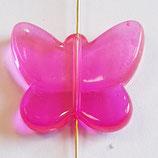 Farfalla Grande 24x28mm  Rosa  in Plexiglass
