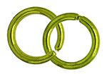 Anello Liscio Aperto 6,5mm verde lime