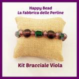 Kit Bracciale Base Cavetto Viola Verde