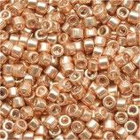 Delica 11/0 (DB411) Oro Rose Chiaro Metallico Galvanize Dyed