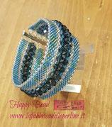 KIT Bracciale Bangle  Colore Azzurro