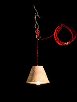"Baladeuse Luminaire ""Textile rouge"""