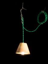 """Baladeuse Luminaire """"Textile vert"""""""