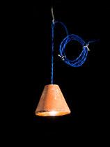 """Baladeuse Luminaire """"Textile bleu"""""""
