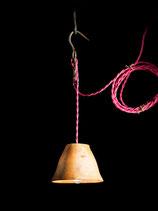 """Baladeuse Luminaire """"Textile rose"""""""