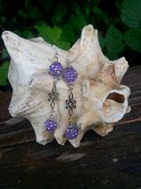 Perlen Ohrringe Lila Grace