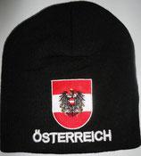 """Österreich Mütze """"Österreich mit Wappen"""" ,schwarz"""