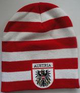 """Österreich Mütze rot/weiß/rot mit """"Balken"""""""