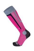 Eisbär Ski Socken rosa/grau