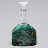 Kosta Boda, Satellite Flasche grün