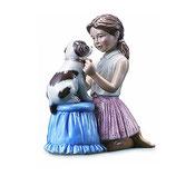 Royal Copenhagen, Mädchen mit kleinem Hund