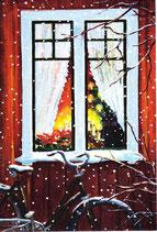 """Mini-Karte """"Julkväll"""" (Weihnachtsabend)"""